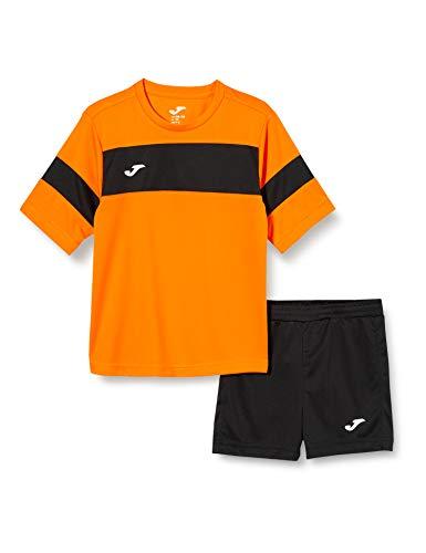 Joma Academy ll Conjunto de Fútbol, Niños, Naranja (Orange-Black), XS