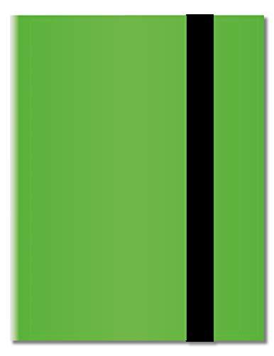 Arkero-G® 18-Pocket Pro Album - lichtgroen / lichtgroen - 360 kaartbinder - touwalbum / verzamelalbum bijv. voor MTG Magic, Pokemon, YuGiOh