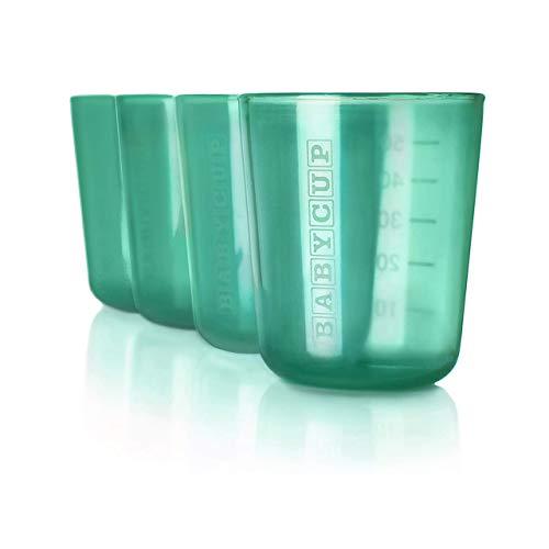 New Babycup – Erste Tasse für Kinder, 100% recycelbar, 4 Stück, 50 ml (Grün)