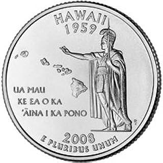 Single Coin State Quarter Uncirculated 2008 D Hawaii U.S