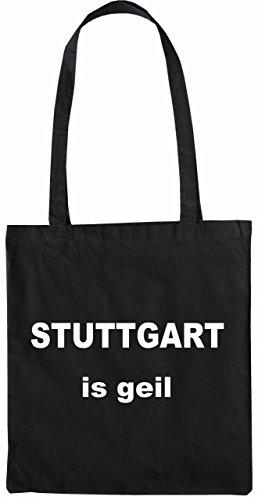 Mister Merchandise Tasche Stuttgart is geil Stofftasche, Farbe: Schwarz