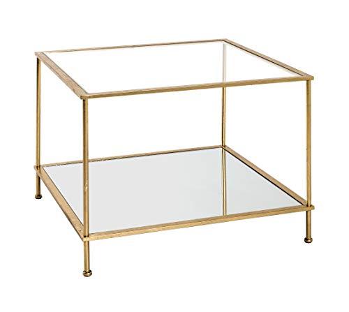 HAKU Möbel Tavolino, Tubo in Acciaio, Oro, 60 x 60 x 45 cm