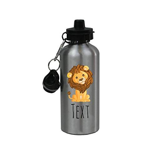Best Buy! Personalized Custom Baby Lion - Zoo - Aluminum 20 Ounce Kids Summer Sport Water Bottle, 2 ...