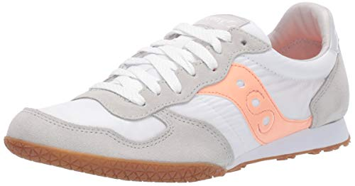 Saucony womens Bullet Sneaker, White/Pink/Gum, 8.5 US