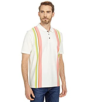 Ted Baker Defrost Short Sleeve Placement Striped Polo White 7  2XL