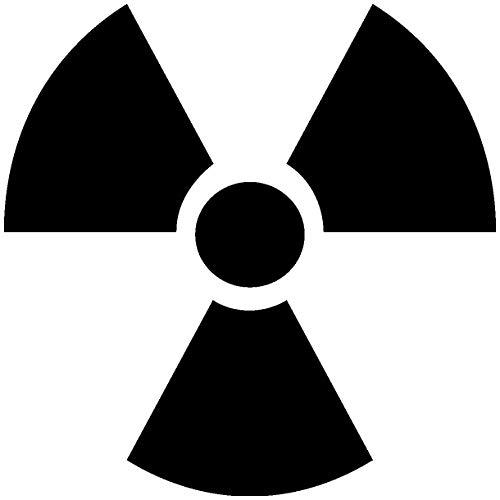 Samunshi® Radioaktiv Zeichen Aufkleber in 10 Größen und 25 Farben (4x4cm schwarz)