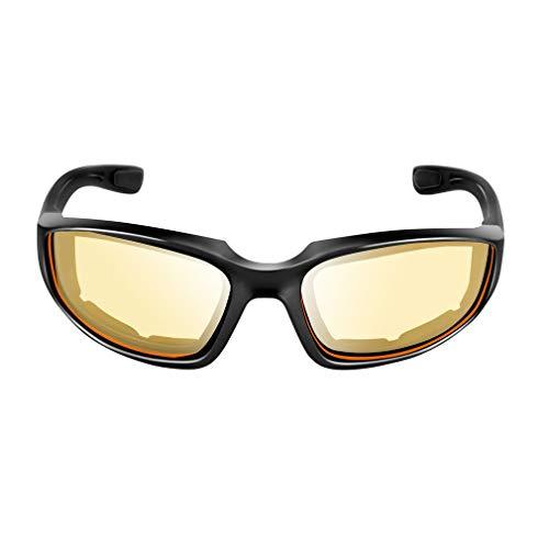 Deliu Gafas de Moto A Prueba de Viento Gafas a Prueba de Polvo Gafas para Exteriores Amarillo
