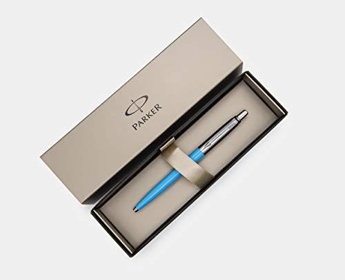 New Parker Jotter Ballpoit, Light Blue, Unique Edition, Medium Point, Blue Ink in Parker Gift Box