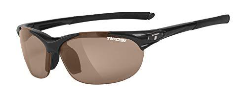 Tifosi Wisp 0040500250 Polarized Wrap Sunglasses,Gloss Black Frame/Brown Lens,One Size