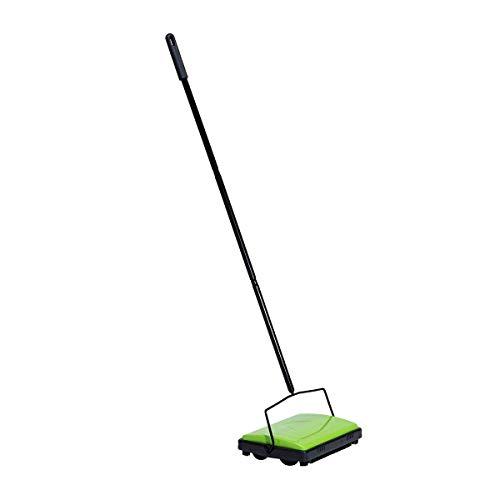 Housekeeps Teppichkehrer Grün - aus stabilem Eisen - nimmt Schmutz in Sekunden auf - 28 x 105 x 19 cm - grün und schwarz