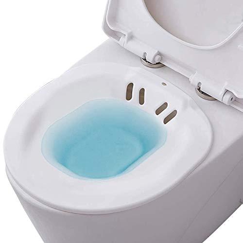 Bwelcam Sitzbad für die Toilette,Bidet Einsatz für Toilette,Bruchsicher Sitzbäder,Sitzbadewanne Toiletteneinsatz,Tragbares Bidetbecken