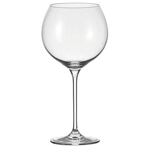Leonardo Cheers Burgunder-Gläser, 6er Set, spülmaschinenfeste Rotwein-Gläser, Rotwein-Kelch mit gezogenem Stiel, Wein-Gläser Set, 750 ml, 035389