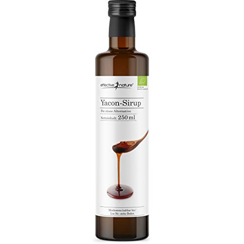 effective nature Yacon-Sirup - 100 % naturbelassen und in Bio-Qualität - Vielseitige Zuckeralternative aus dem beliebten Anden-Gewächs - Angenehme Süsse - 250 ml