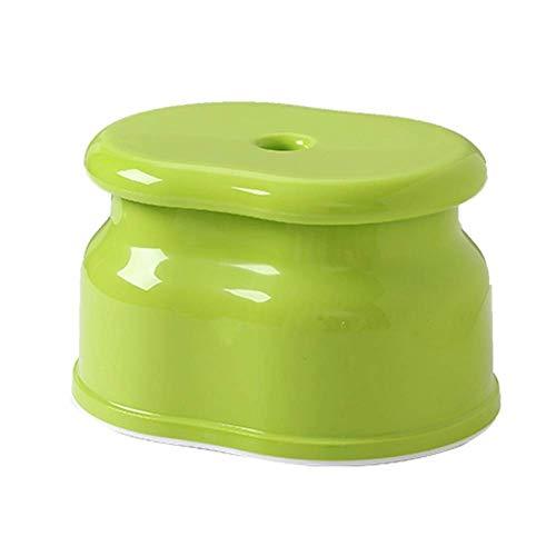 MWPO Reposapiés Taburete Antideslizante para el hogar Taburete para niños de ABS Sala de Estar de Moda Banco pequeño Zapatos Banco Taburete de Ducha para baño (Color: Verde, Tamaño: A-26x19x17cm)