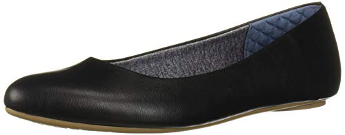Dr. Scholl's Shoes Women's Really Ballet Flat, Black Smooth, 7.5 M US