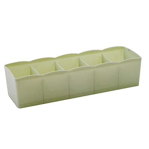 QLXG Cestas almacenaje Diseño Plástico Organizador De Cajones Al por Mayor Tie Calcetines Container Portátil Ropa Divisora Caja De Almacenamiento De Ropa Interior Organizador 6 * 26.5 * 8cm NO.7