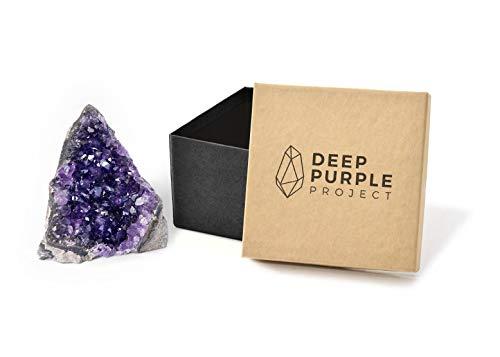 Deep Purple Project Grandes pierres d'améthyste en cristal brut de 1 à 0,9 kg de géode quartz d'Uruguay (500 g à 850 g)