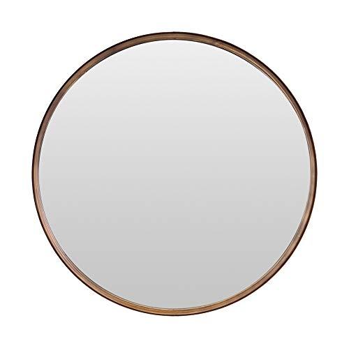 Espejo de pared de metal redondo Harrison de Select, estilo escandinavo, color bronce, 61 cm de diámetro