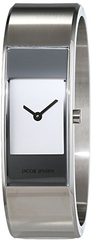 JACOB JENSEN Damen Analog Quarz Uhr mit Edelstahl Armband Eclipse Item NO. 450