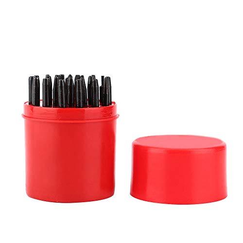 Watch Presser Head Band Punch Tool, Herramienta profesional de reparación de relojes de relojería de aleación, con caja de plástico roja, para fabricantes de herramientas y maquinistas
