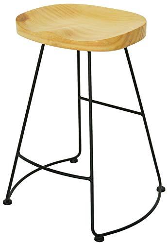 スツール ハイスツール イス 椅子 チェア バーチェア 木製座面 アイアンフレーム ヴィンテージ ユーズド インダストリアル おしゃれ シンプル 北欧 レトロ アンティーク 一人暮らし (ナチュラル)