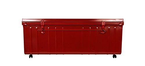 Coffre de Rangement sur Roulette, 175 L, Rouge