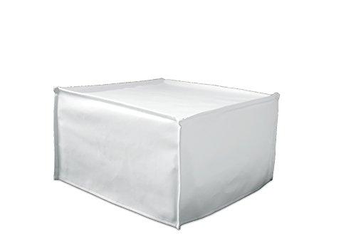 Ponti Divani - Cube - Pouf Letto Singolo con Materasso h 10cm di Ottima qualità e Rete Italiana Ecopelle Bianca