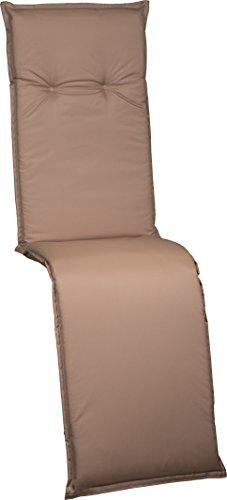 Beo RE zitkussen tuinstoelkussen relaxstoel serie Barcelona waterafstotend PY303, zand, 171 cm x breedte 50 cm x dikte ca. 6 cm.