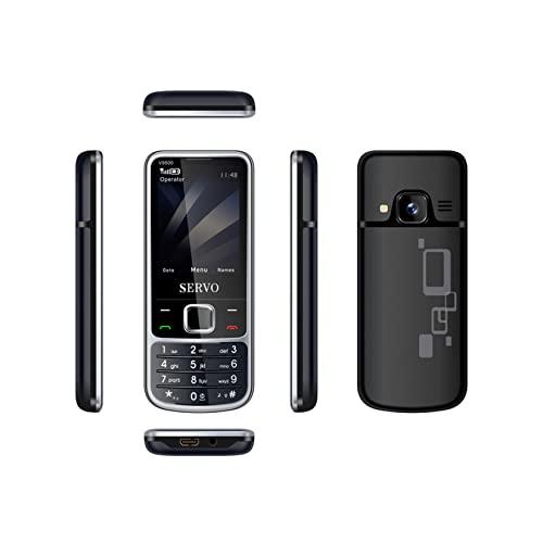 Botón Teléfono móvil V9500 4 Tarjetas SIM 4 Modo de Espera Bluetooth, Video y música, Radio FM, 23 Juegos, Voz mágica (Plateado)