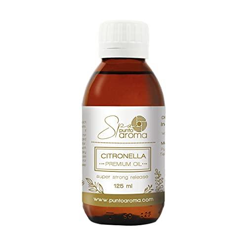Punto Aroma - Fragancia ideal para difusor, humificador, sahumerio - Fragancia Premium - Incluye frasco de 125 ml. (Citronela)