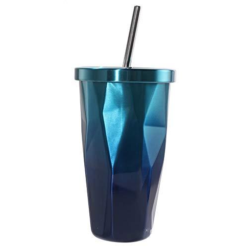 YBWEN-vacuum Vuoto van roestvrij staal, koffiemok voor binnen en buiten 304 van roestvrij staal met Paglia 500ml stofzuiger voor koffie en thee