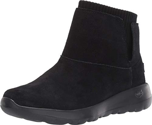 Skechers On-the-go Joy Kurzschaft Stiefel Damen, Schwarz (Black/Gray Suede/Textile Bkgy), 39 EU