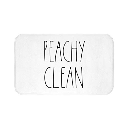 Zacathan432 Area Rug 16 x 24 Inch Door Mat, Rae Dunn Inspired Peachy Clean Bath Mat for Your Farmhouse Bathroom Rug