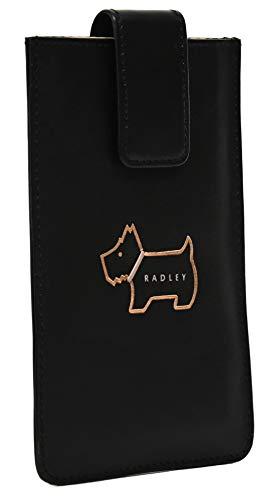 Radley Leather Phone Case Heritage Dog Outline in Black