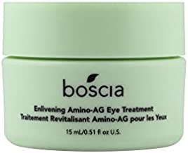boscia Enlivening Amino-AG Eye Treatment - Vegan, Cruelty-Free, Natural and Clean Skincare | Under Eye Cream for Dark Circles, Puffiness and Minimizing Wrinkles, 0.5 fl oz