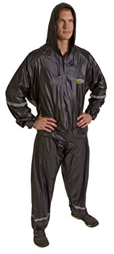GoFit Unisex Thermal Sweat Suit - for Training, Weight Loss, and Exercise (Black, Small/Medium)