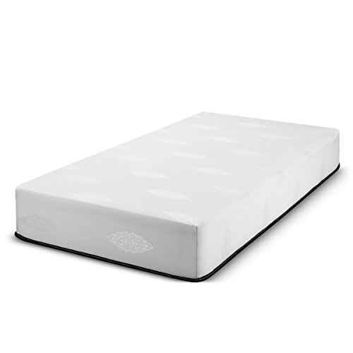 Best 2 Rest Memory Foam Mattress Cool Gel-Infused Soft- Made in USA (30 x 74, White 6 inch)