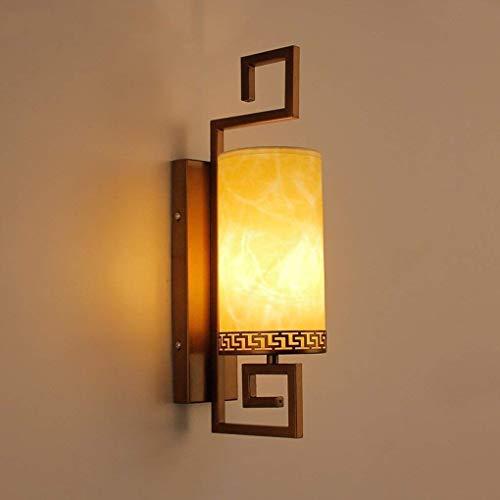 Allamp Lámpara de pared de la pared china dormitorio de la lámpara de estilo moderno (antiguos) hotel pasillo Lámpara de pared - pintura de alta temperatura (Color: Color bronce) Lámpara de pared Adec