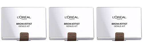 L'Oréal Paris Brow Artist Genius Kit pour Sourcils 02 Médium à Foncé - Lot de 3