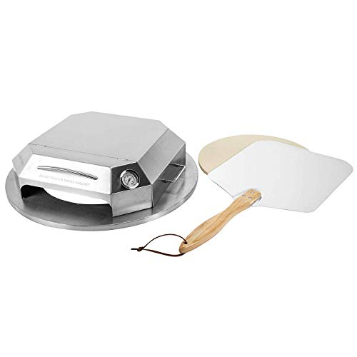 Onlyfire BRK-6052 Kit di conversione Forno per Pizza in Acciaio Inox Adatto per 57cm griglia a Carbone