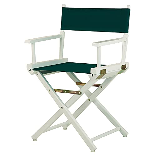 Casual Home 18' Director's Chair White Frame Canvas Regiestuhl, Holz, Weißer Rahmen aus Leinwand, Hunter Green