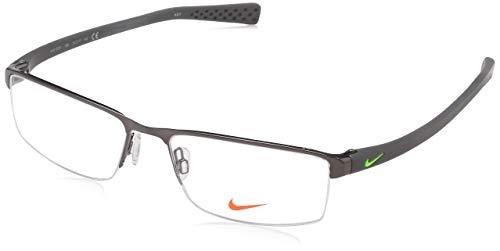 NIKE 8097 068 55 Monturas de gafas, Brushed Gunmetal/Voltage, Hombre