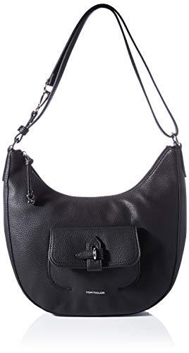 TOM TAILOR Damen Jasmin Hobo Bag, Black, L