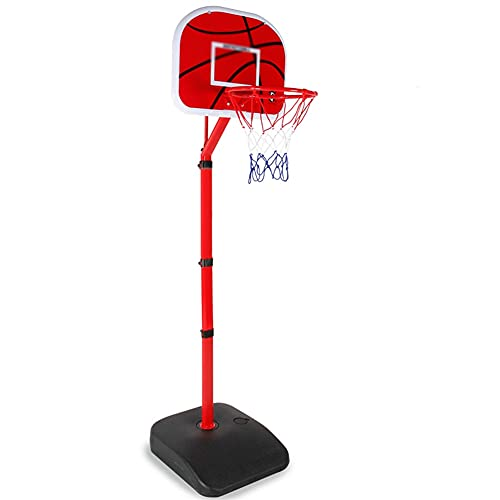 Reemplazo de red de baloncesto resistente Soporte de aro de baloncesto para niños pequeños, juego de baloncesto interior con bomba de bolas Juegos de patio exterior para niños - Altura ajustable 70-21
