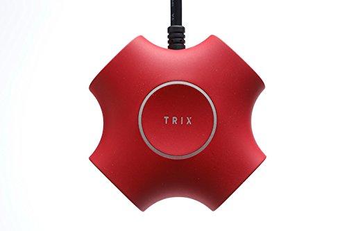 TRIX 電源タップ トリックス カッコいい 2.1A インテリア (Red)