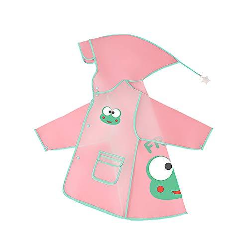 Niños de dibujos animados impermeable transpirable de una sola pieza impermeable chaqueta impermeable, verde, 9 años