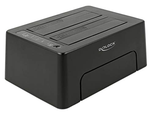 DeLock USB-C Dockingstation, schwarz, USB-C, Klonfunktion, HDD, SSD