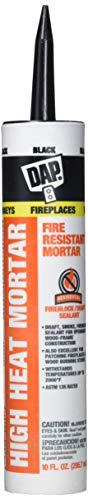 DAP 7079818854 High Heat Mortar Raw Building Material, Black