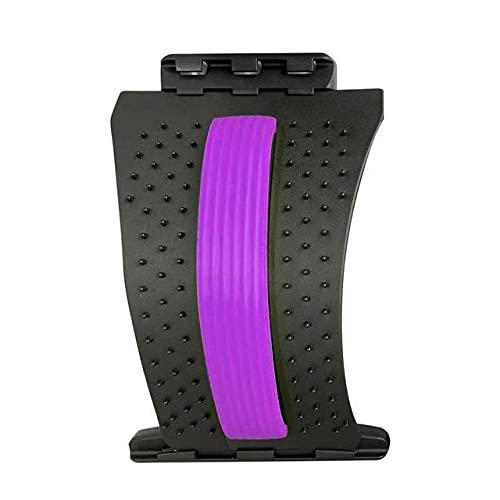 Dispositivo de apoyo lumbar para la espalda, alivio del dolor de espalda, masaje de columna vertebral, hernia discal quiropráctico masaje de espalda (morado)