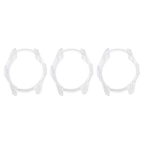 UKCOCO Cover Galaxy Watch 42mm, 3 Pezzi Ultra Sottile Trasparente Full-Around Frame TPU Custodia Protettiva Case Cover Compatibile Samsung Galaxy Watch Smart Watch 42mm 2018